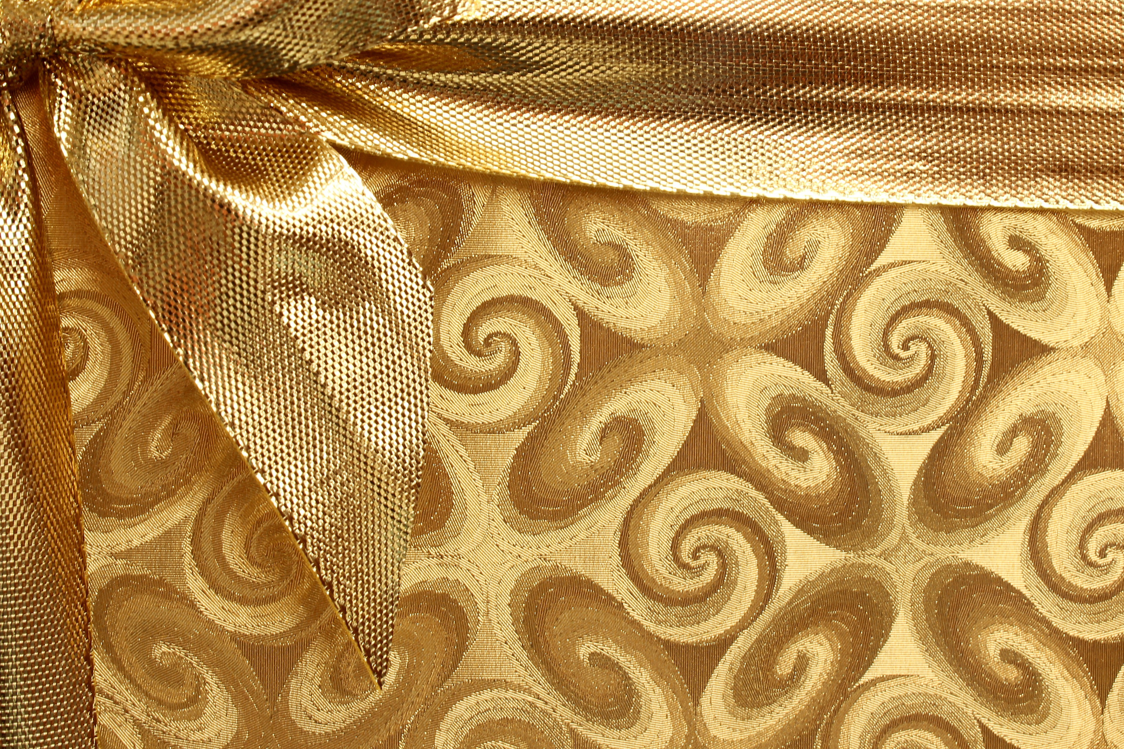 Background,  ribbon, golden, printed
