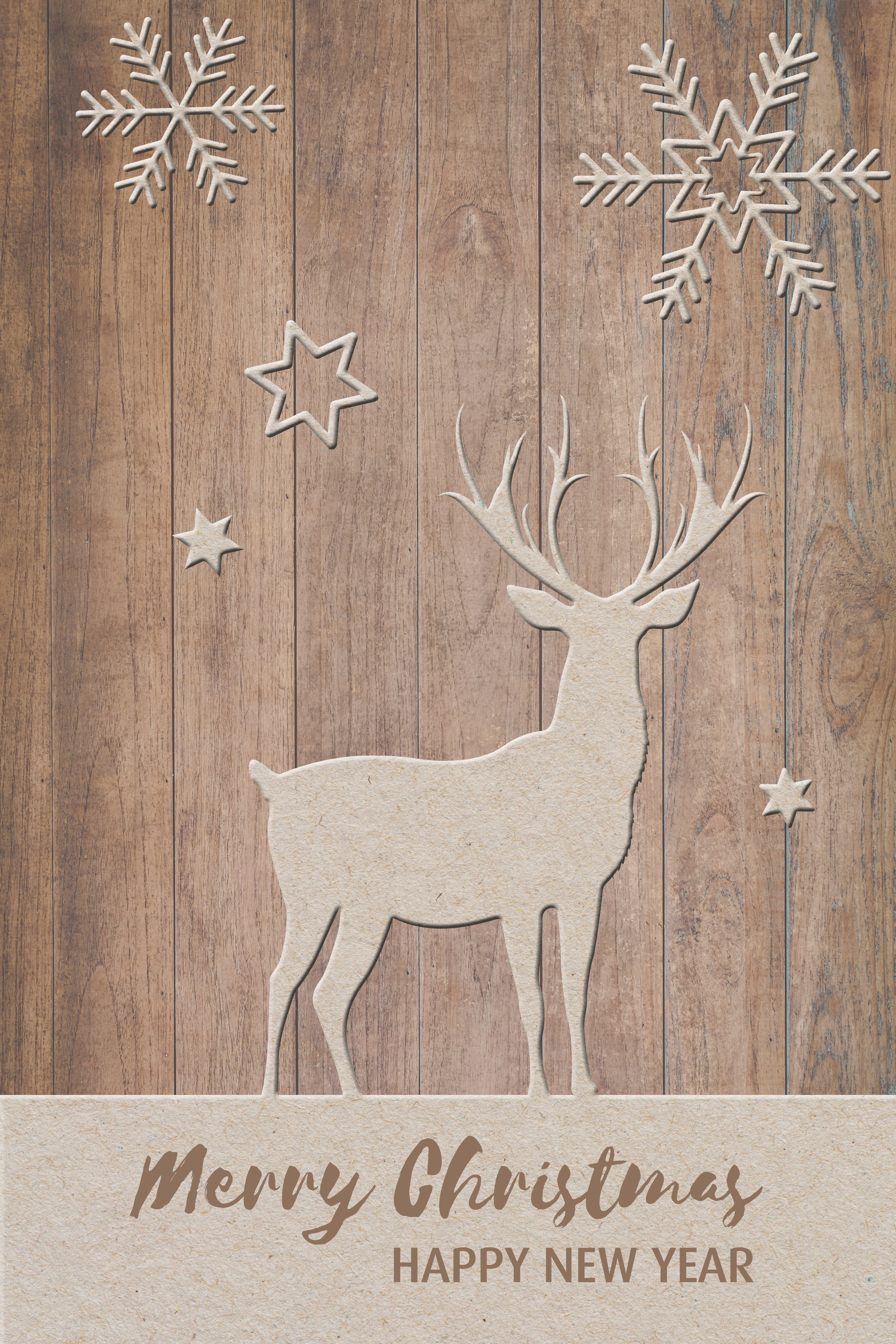 Christmas greeting, deer, snow, festival, fund