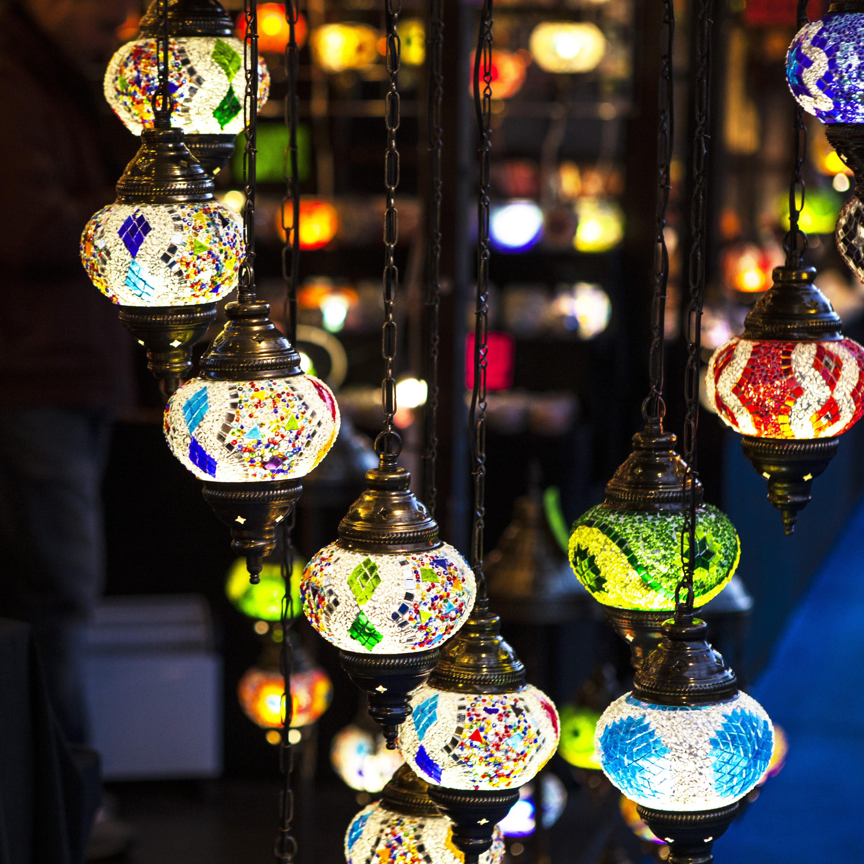 Colorful, lamps, craft, light