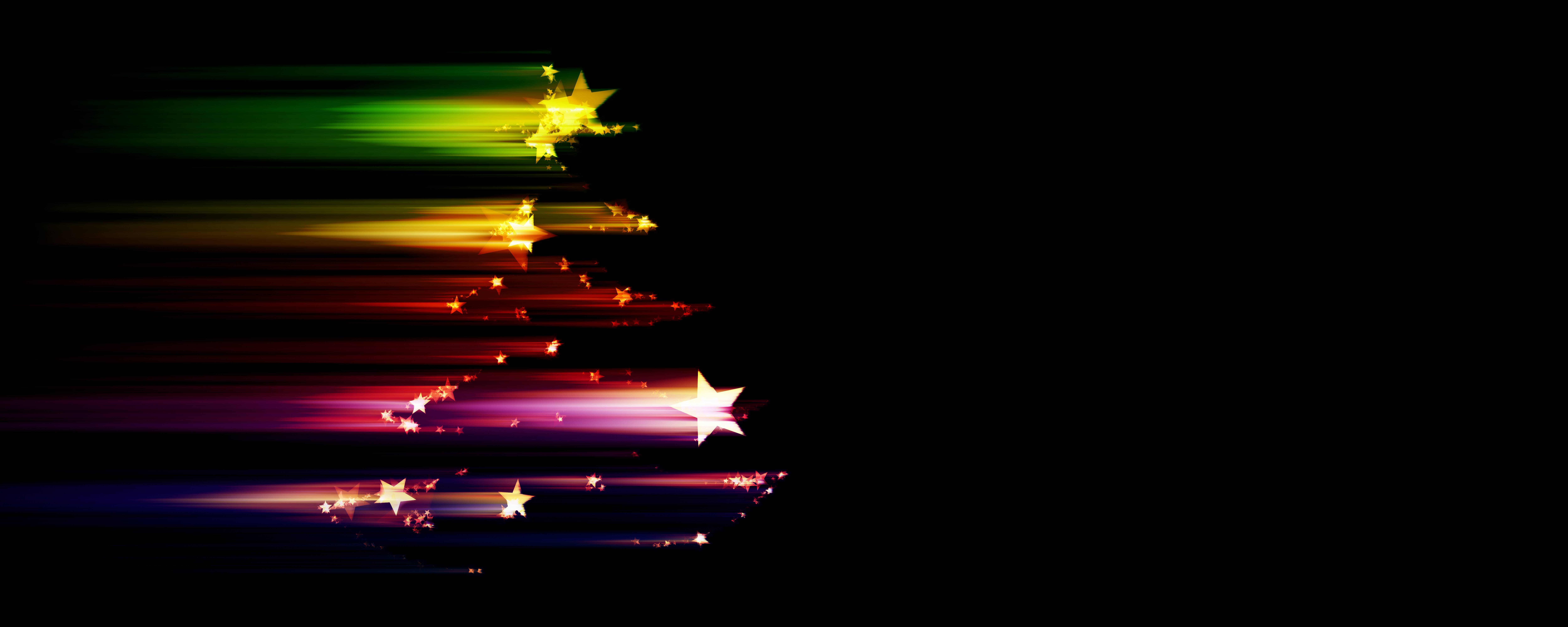 Colorful star , holiday, decoration, black