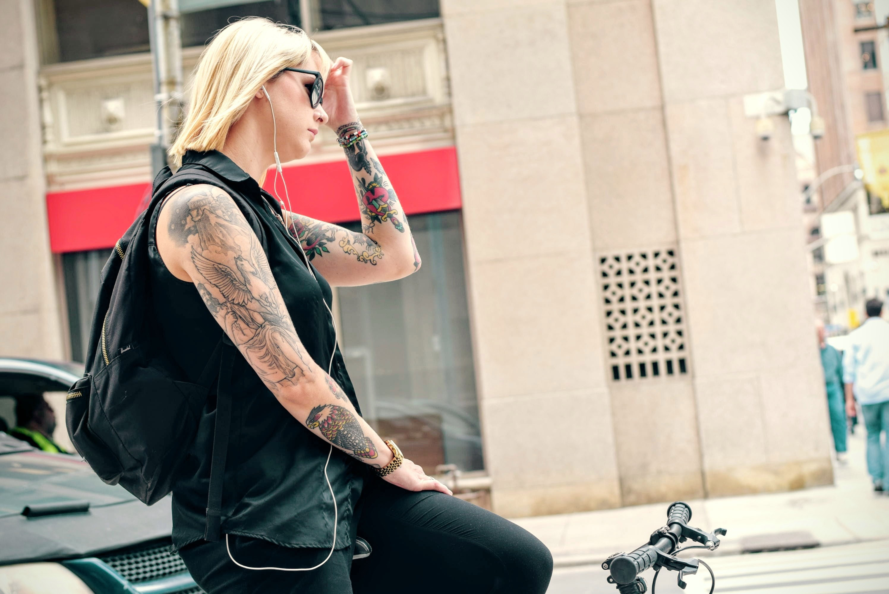 Cyclist,style,lady,people