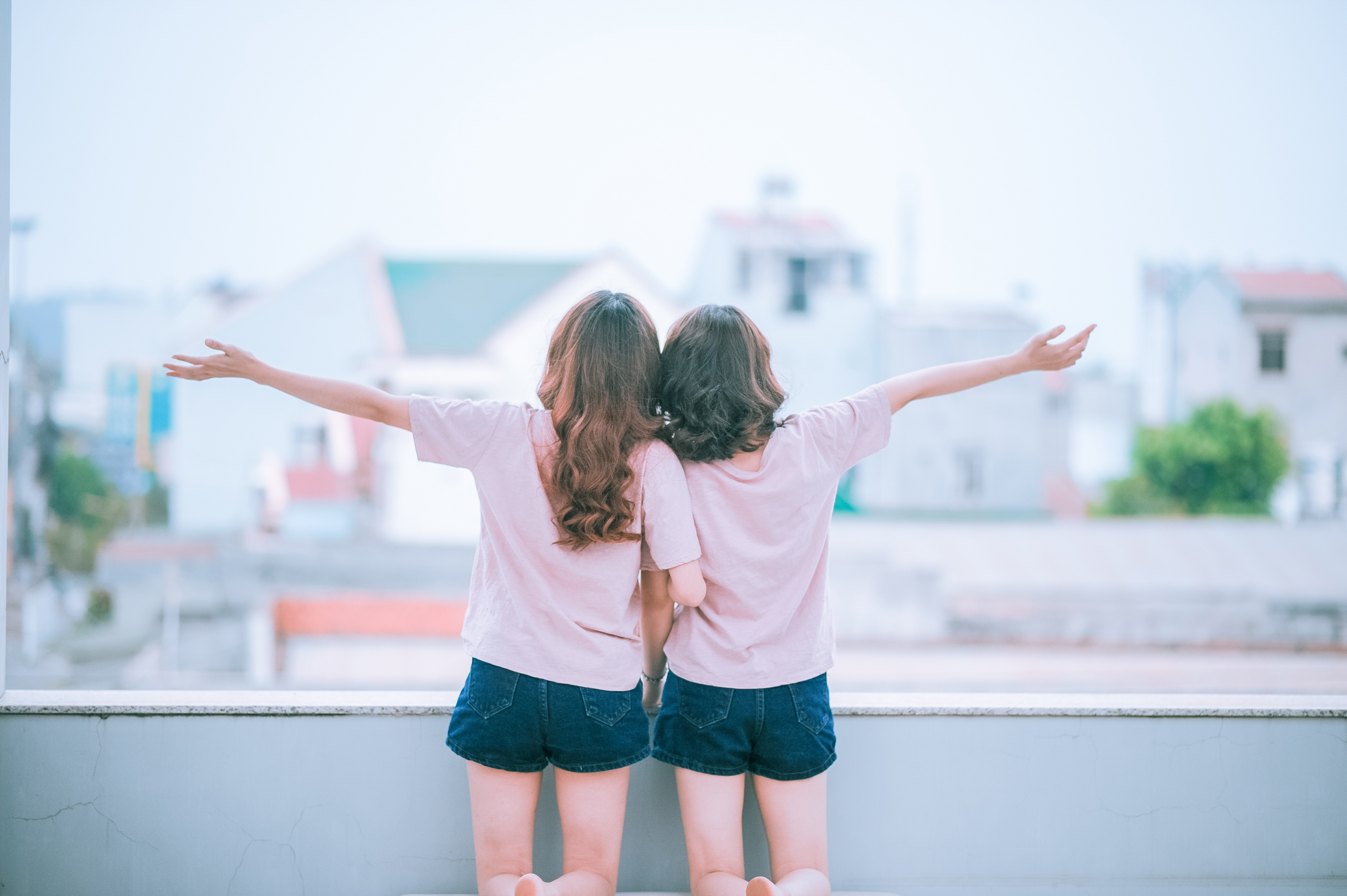 friend, together, girl, relationship, happy,