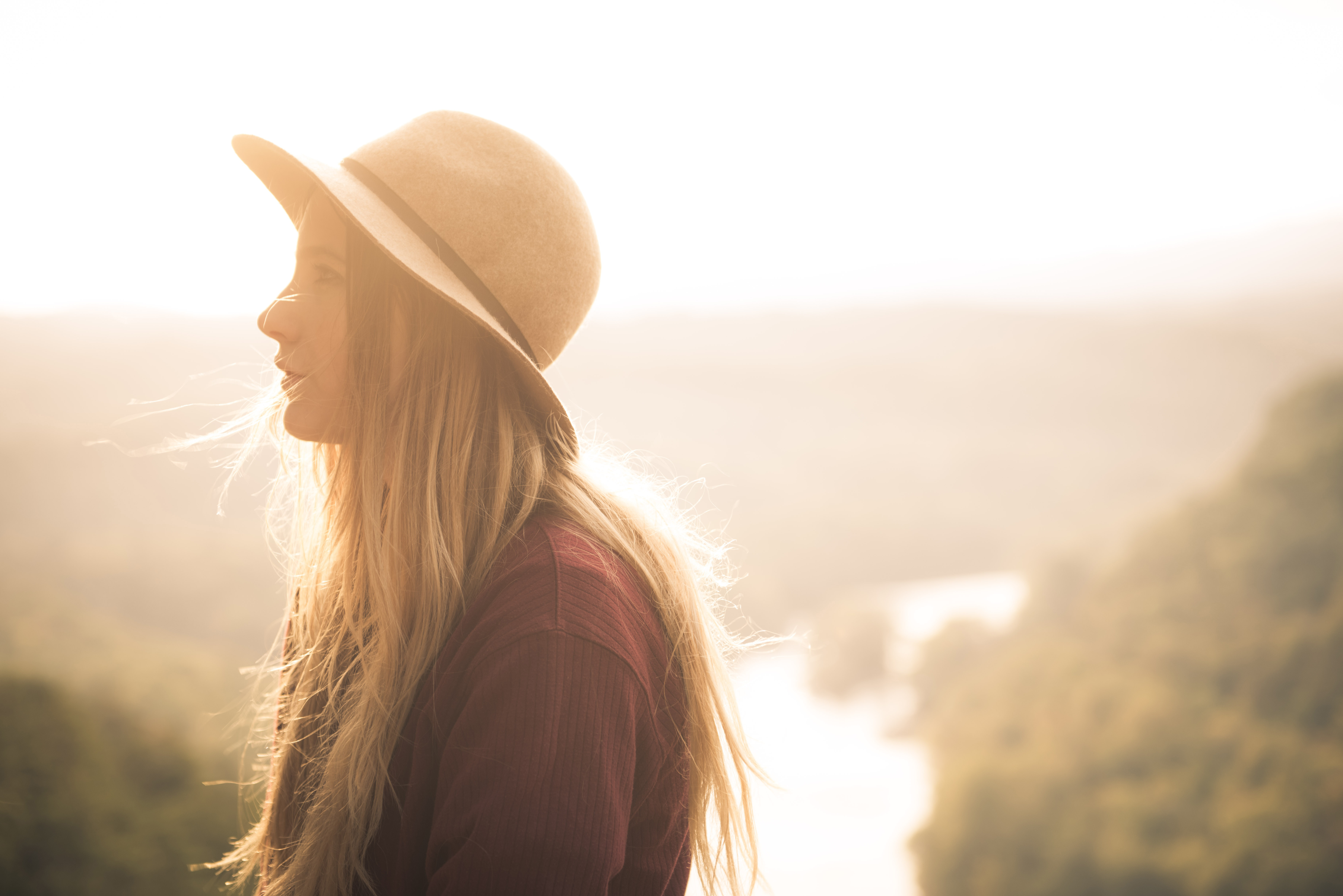 backlit, dawn, girl, outdoors, people,