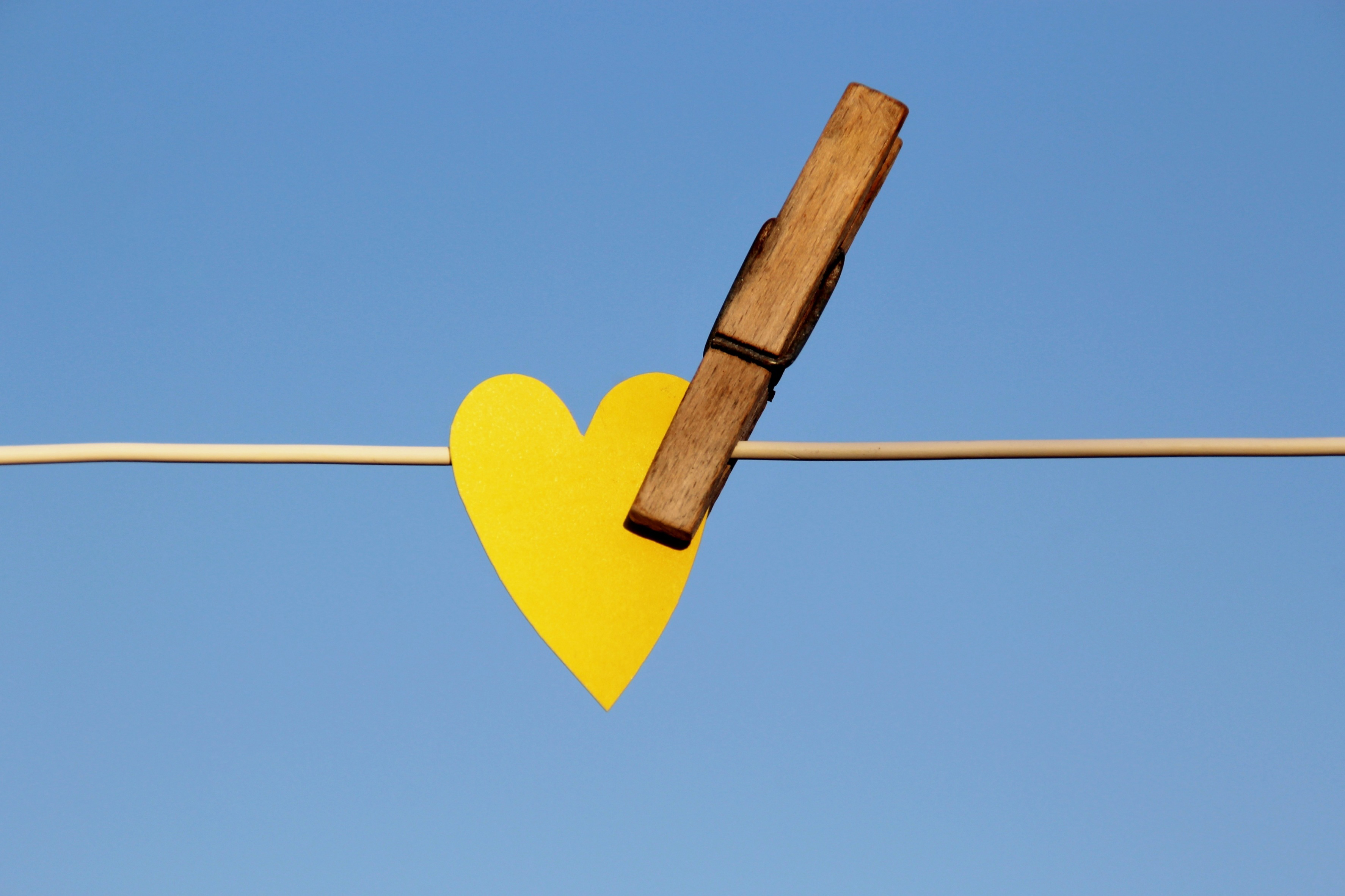 heart, clothes peg, clothes line, love, summer,