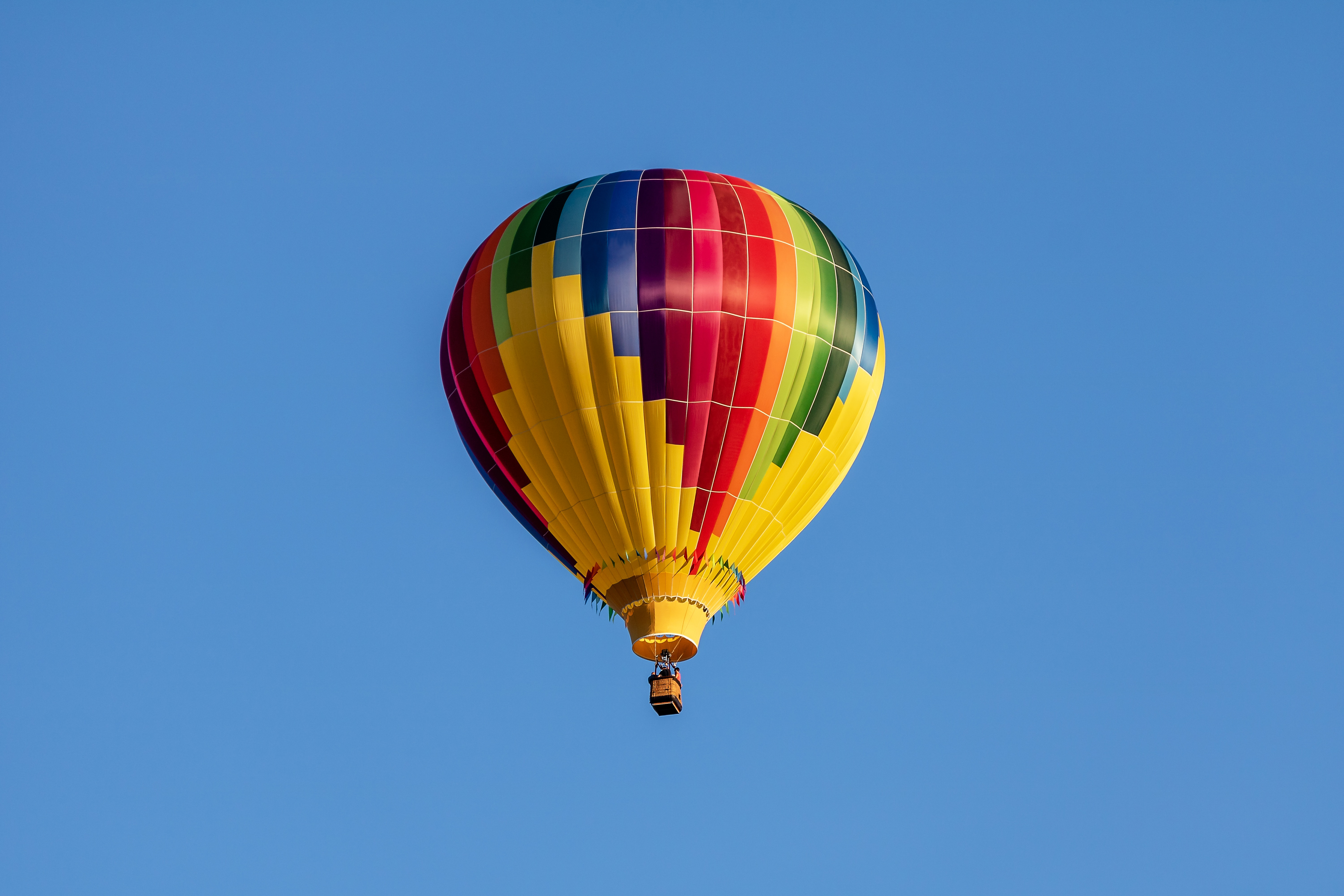 hot air balloon, balloon, aircraft, flying, sky,