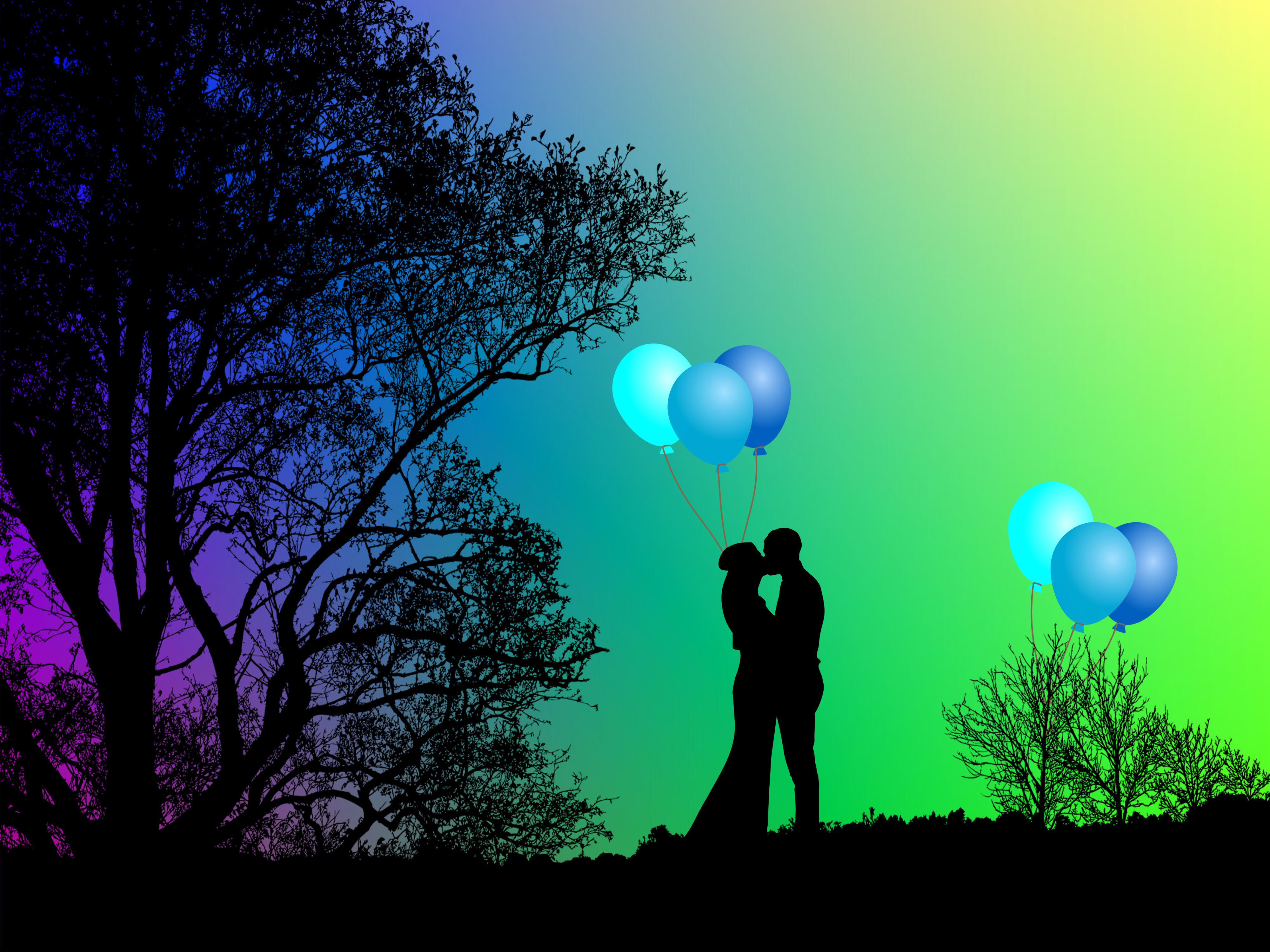 love, together, romance, grooms, kiss,