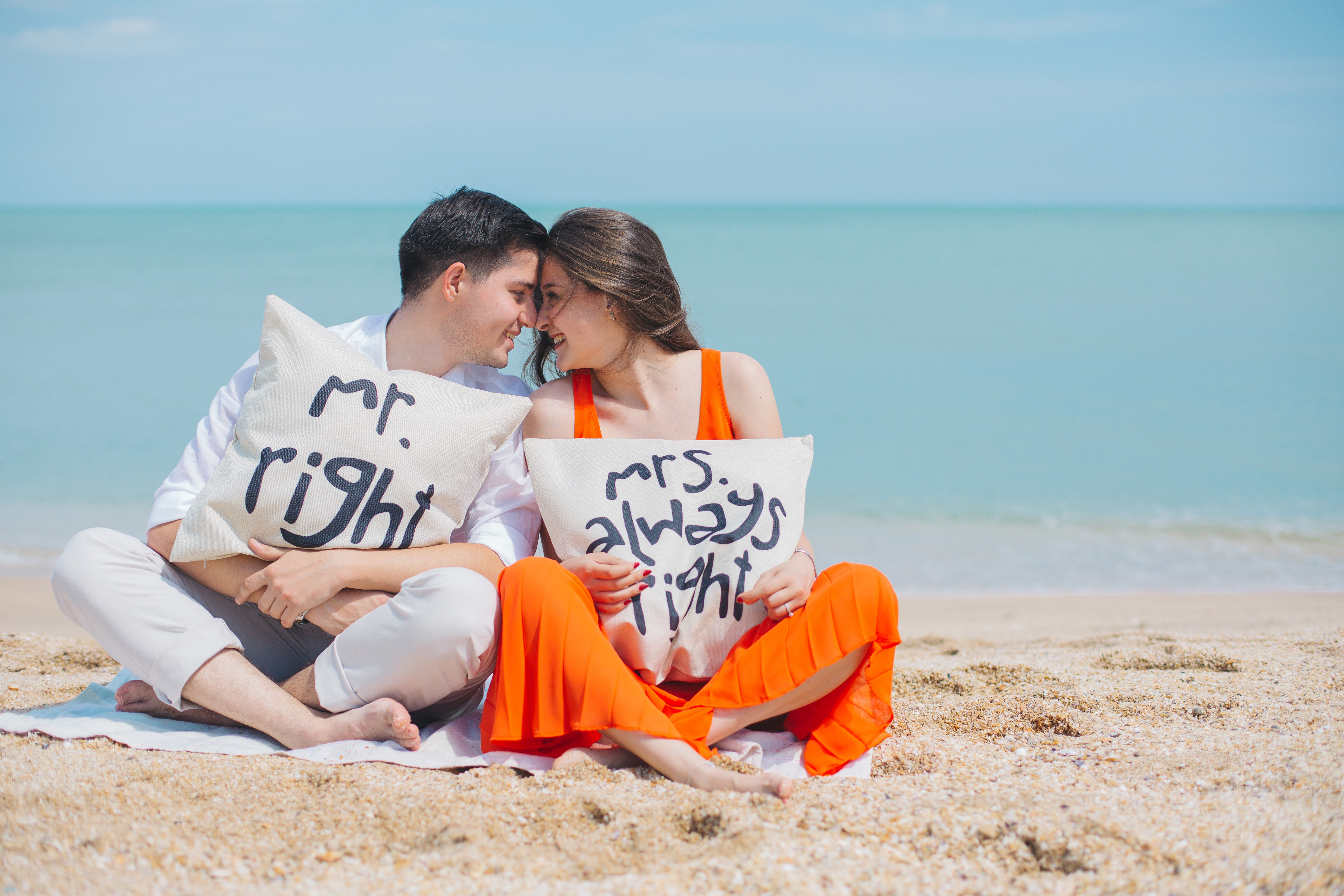 love,couple,man,sand,romance,pillow