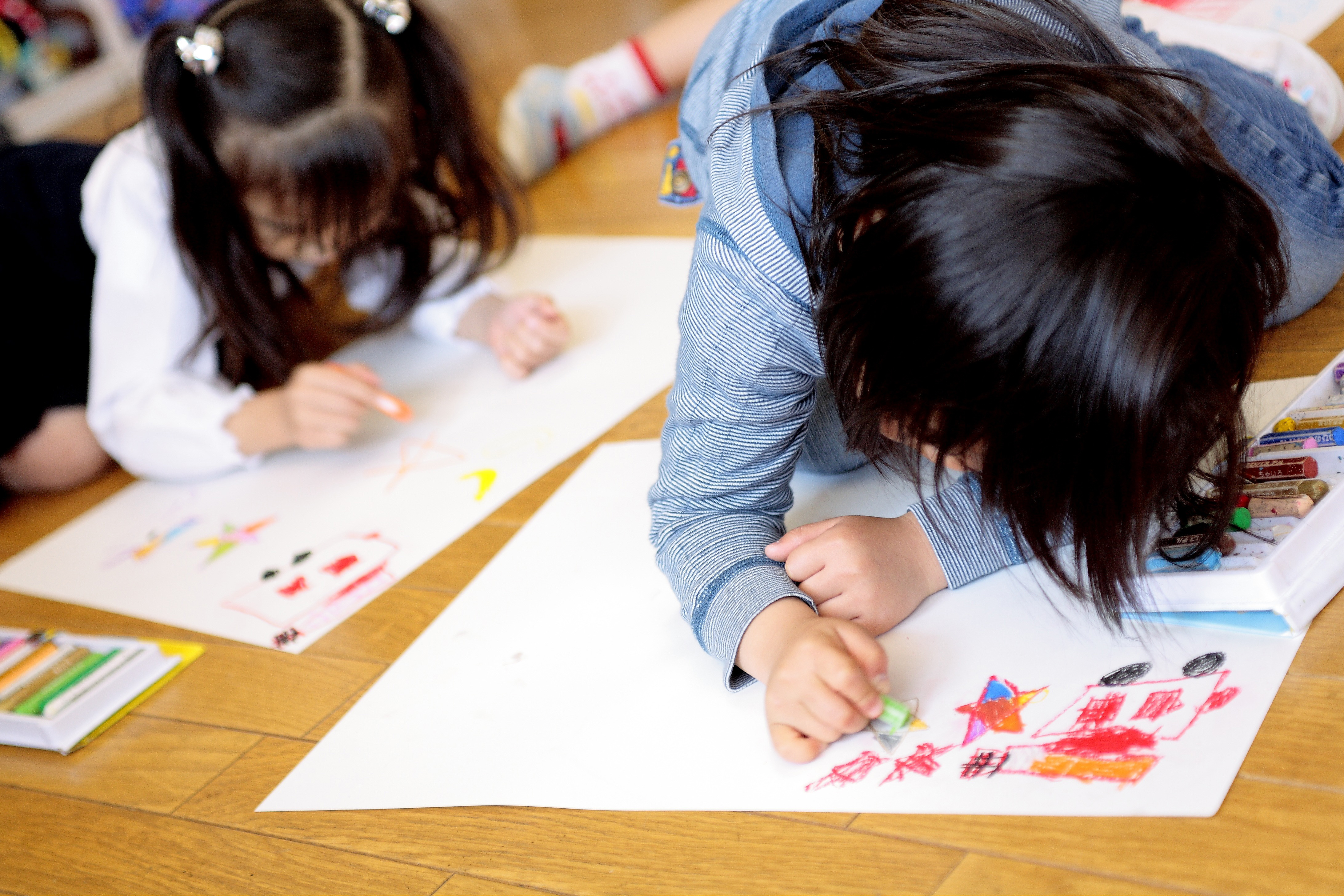 Makeing drawing, picture, children