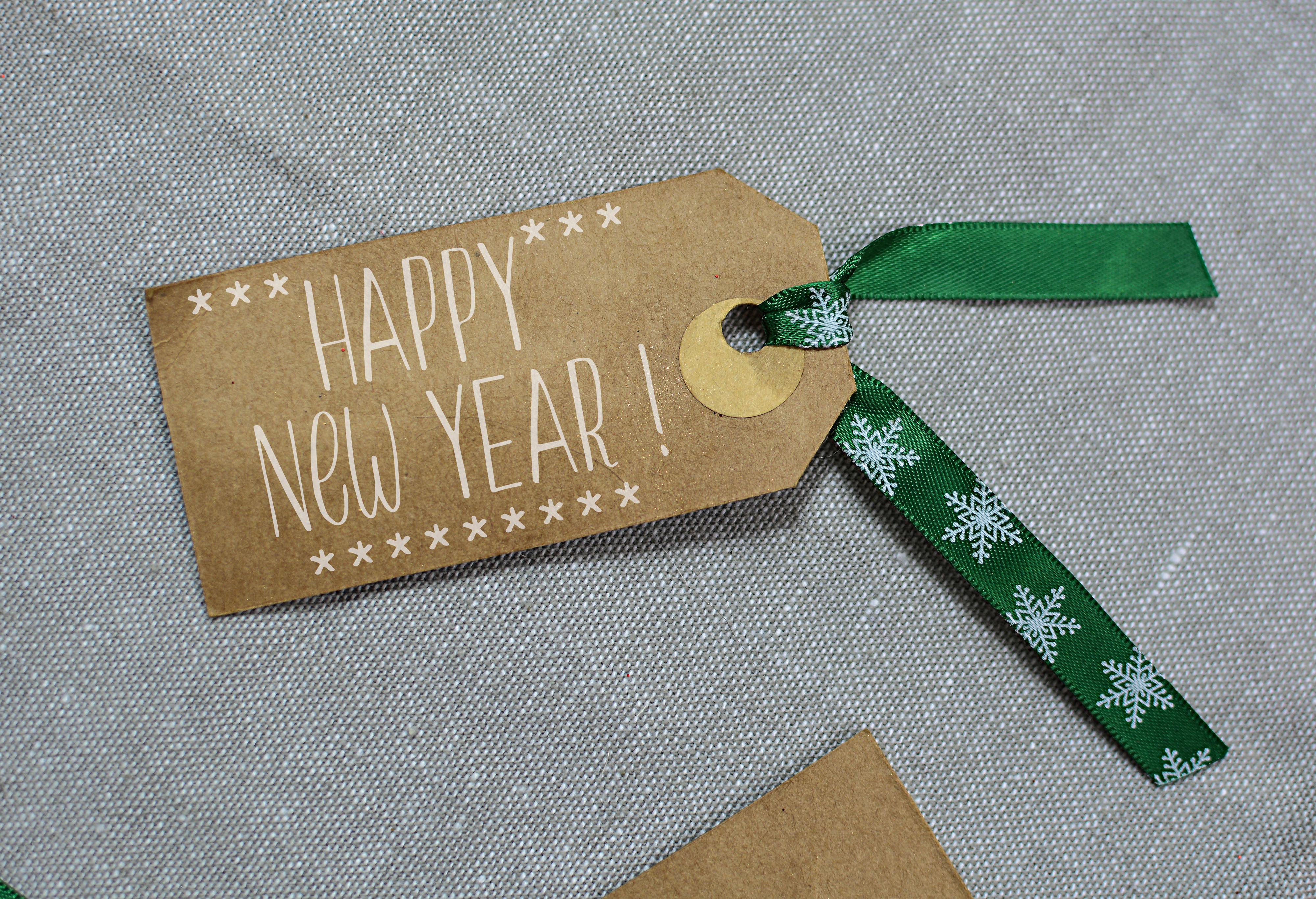 New year label, text, tag, greeting