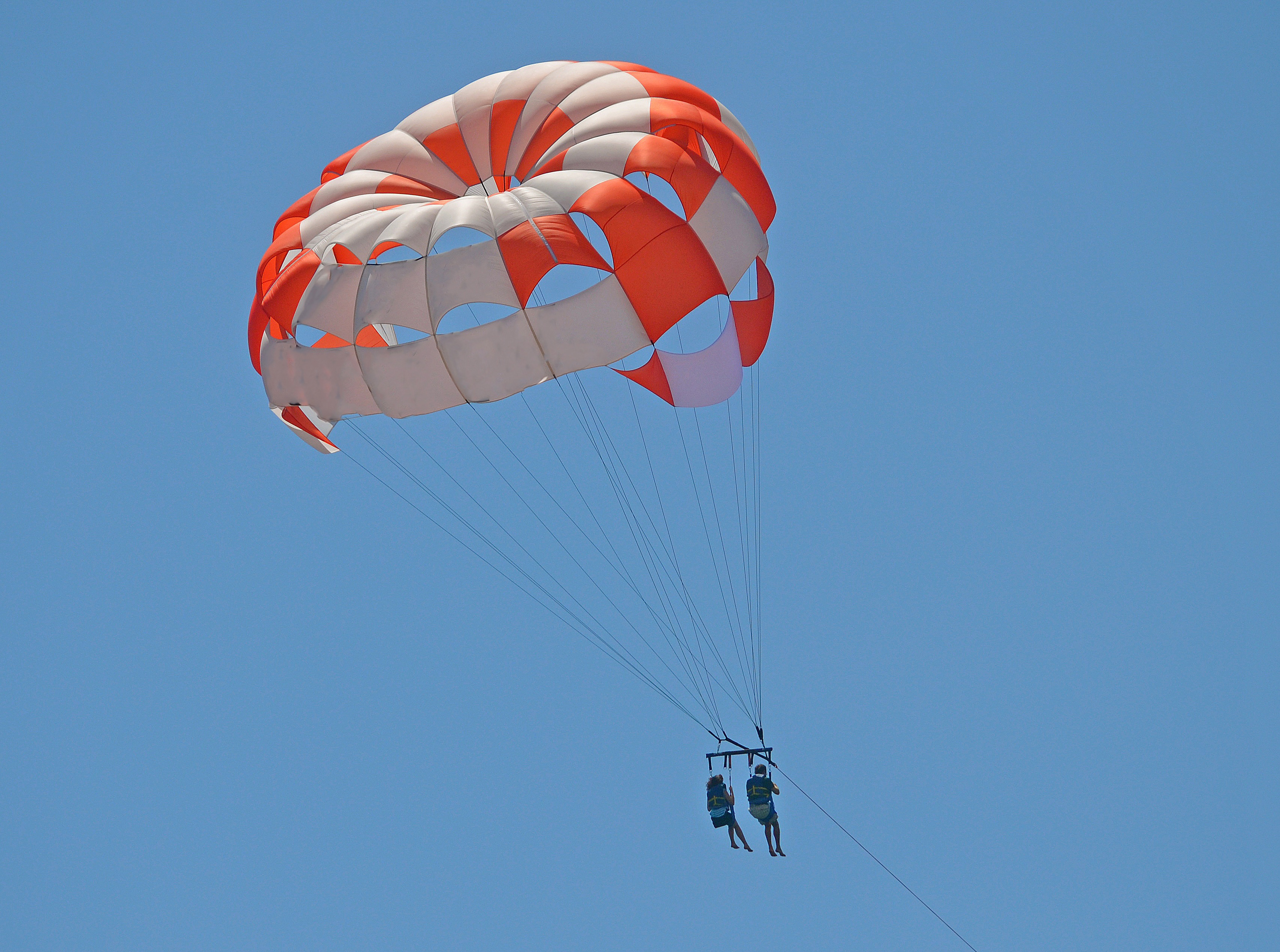 Parachute, air, flying, up, sport