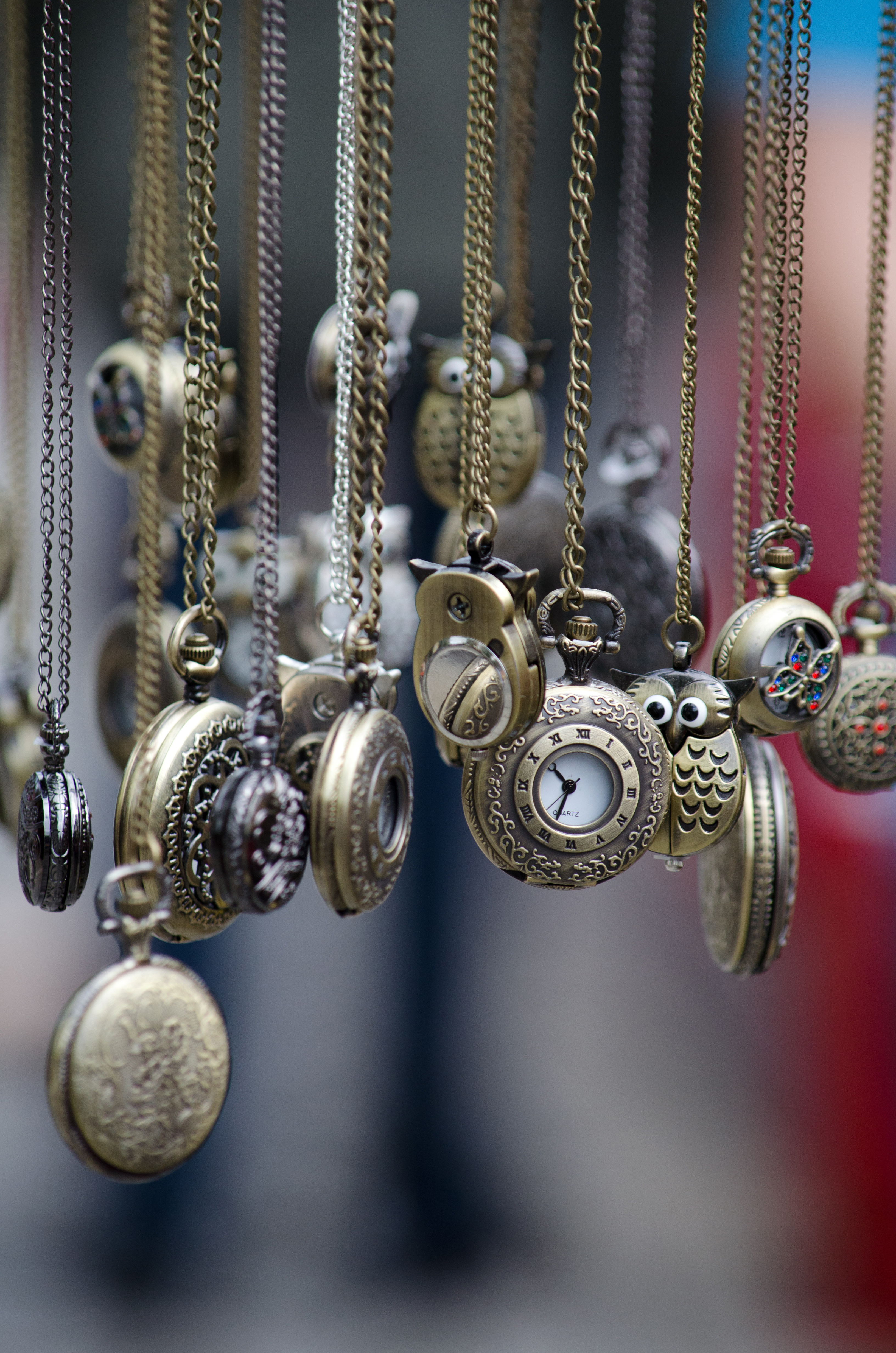 pocket watches, time of, chain, metal,