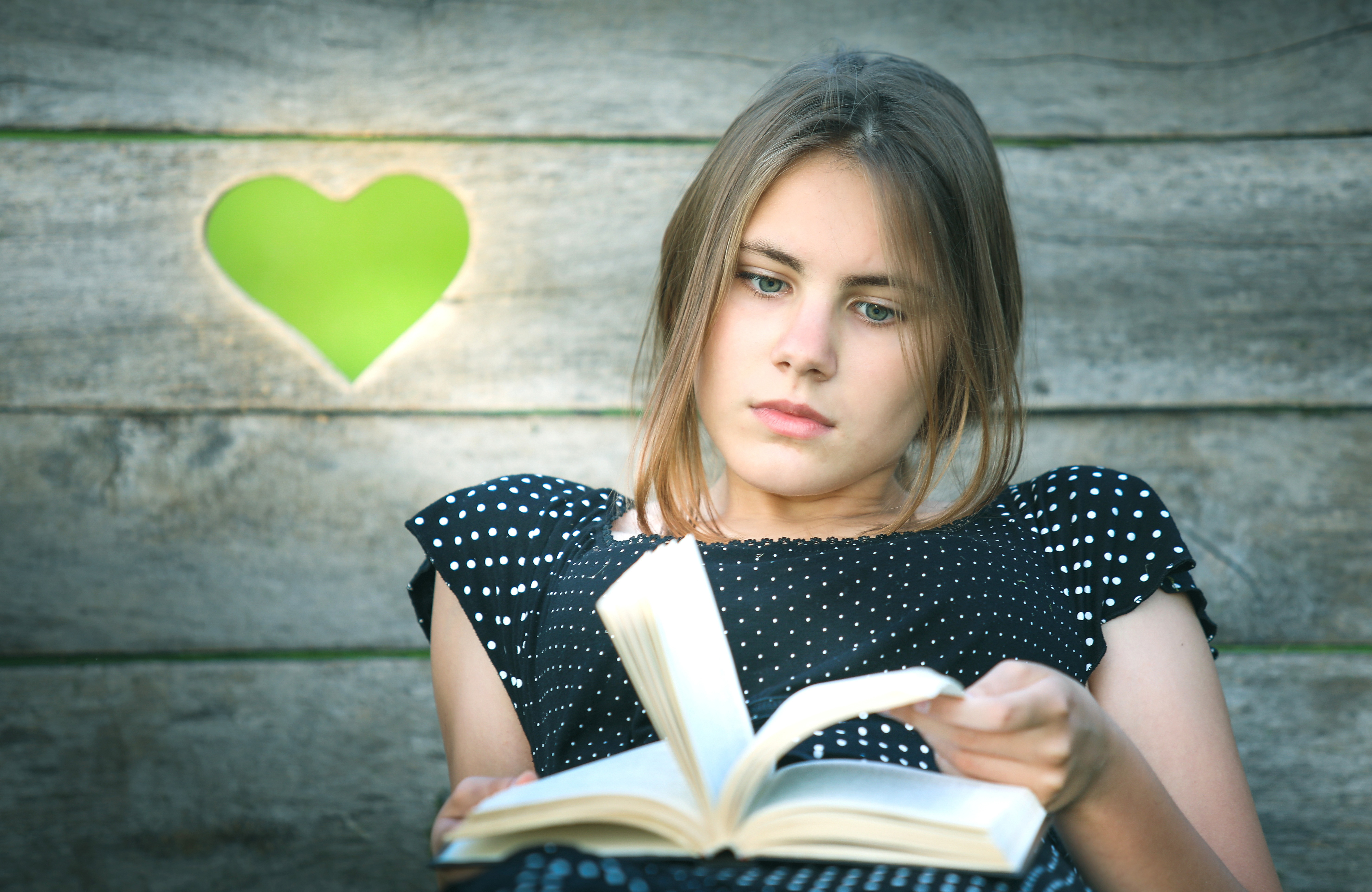 Reading book,heart,girl,library,culture