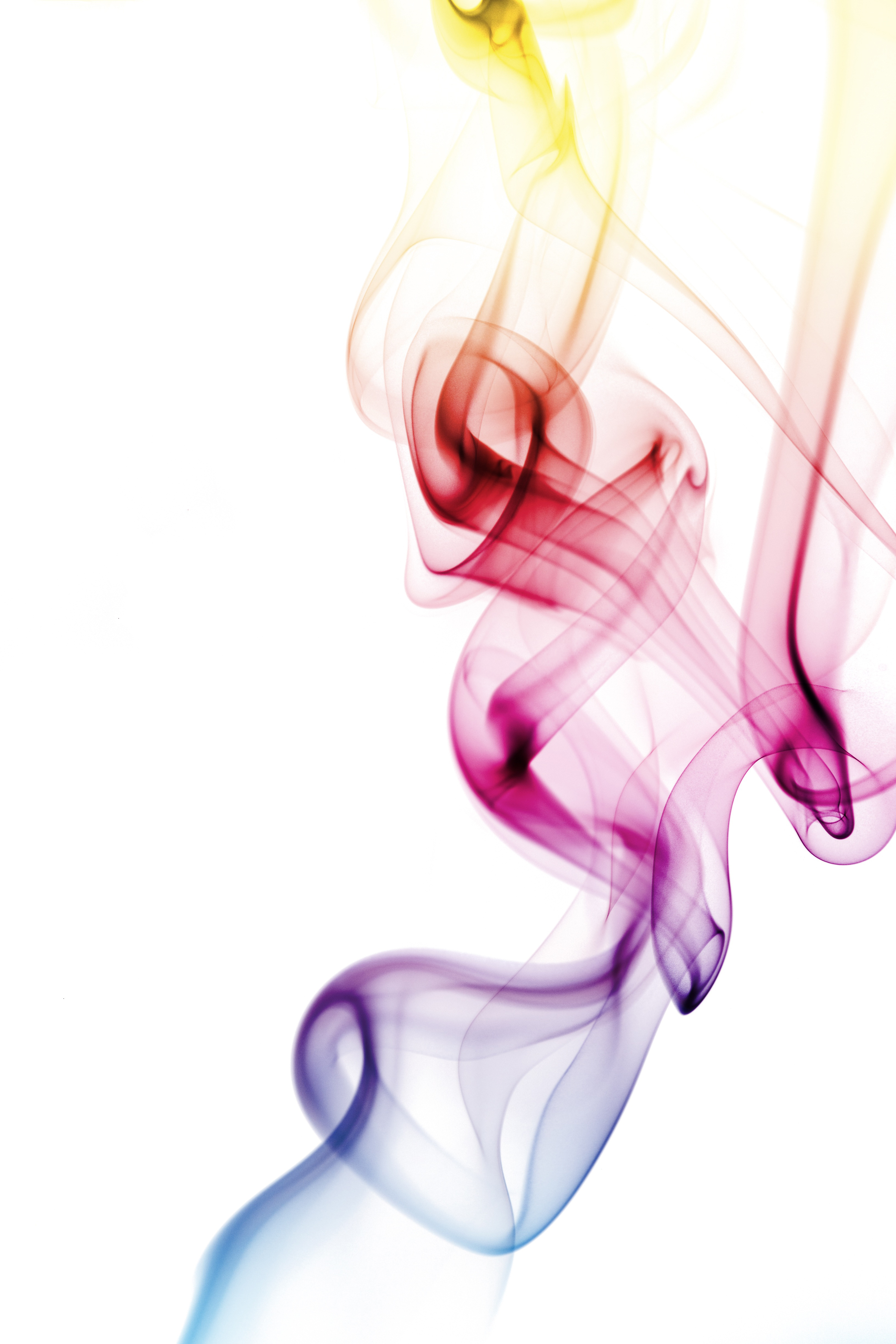 smoke, colored, abstract, rainbow, incense,