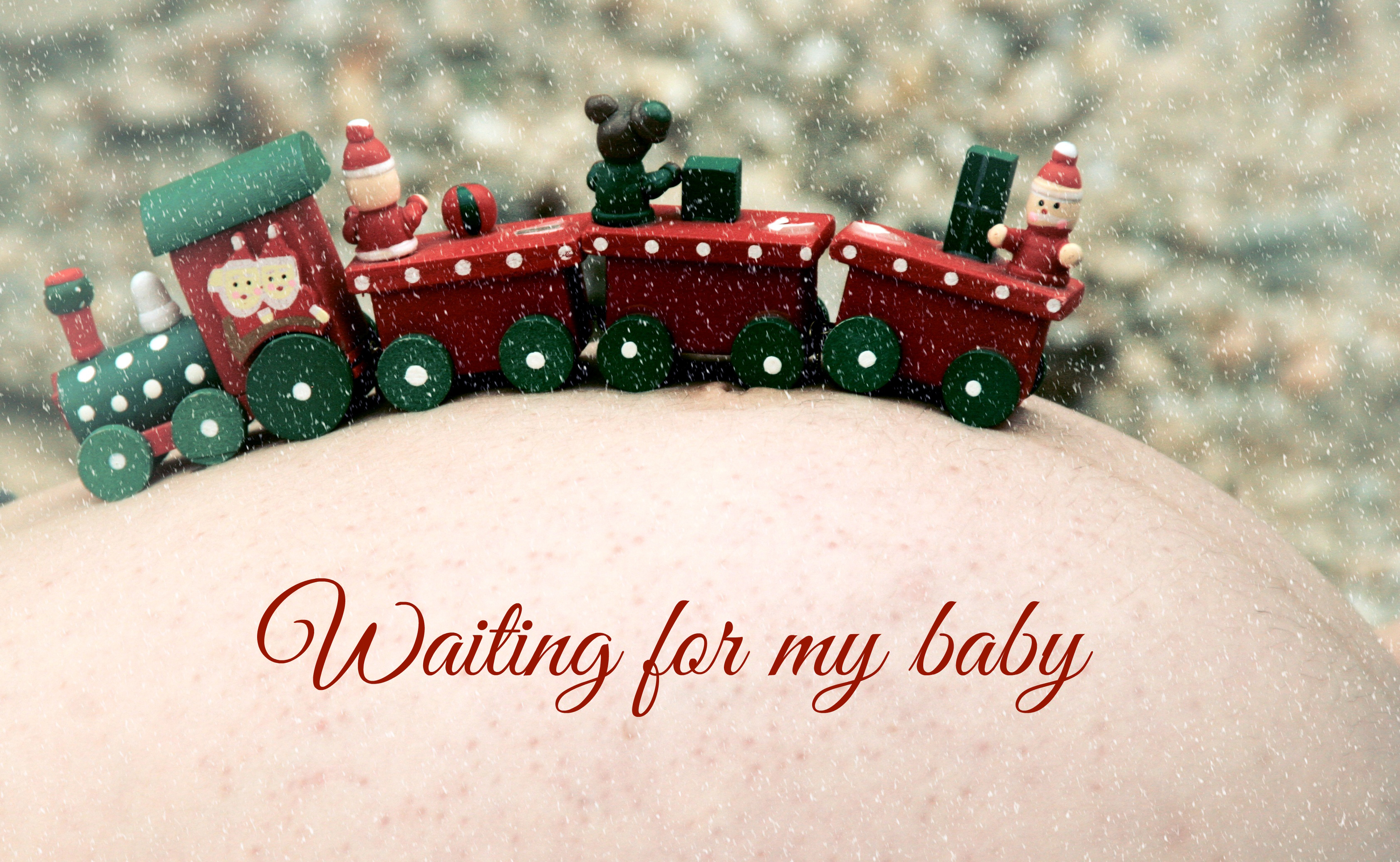 Toy train, pregnant, red, toy