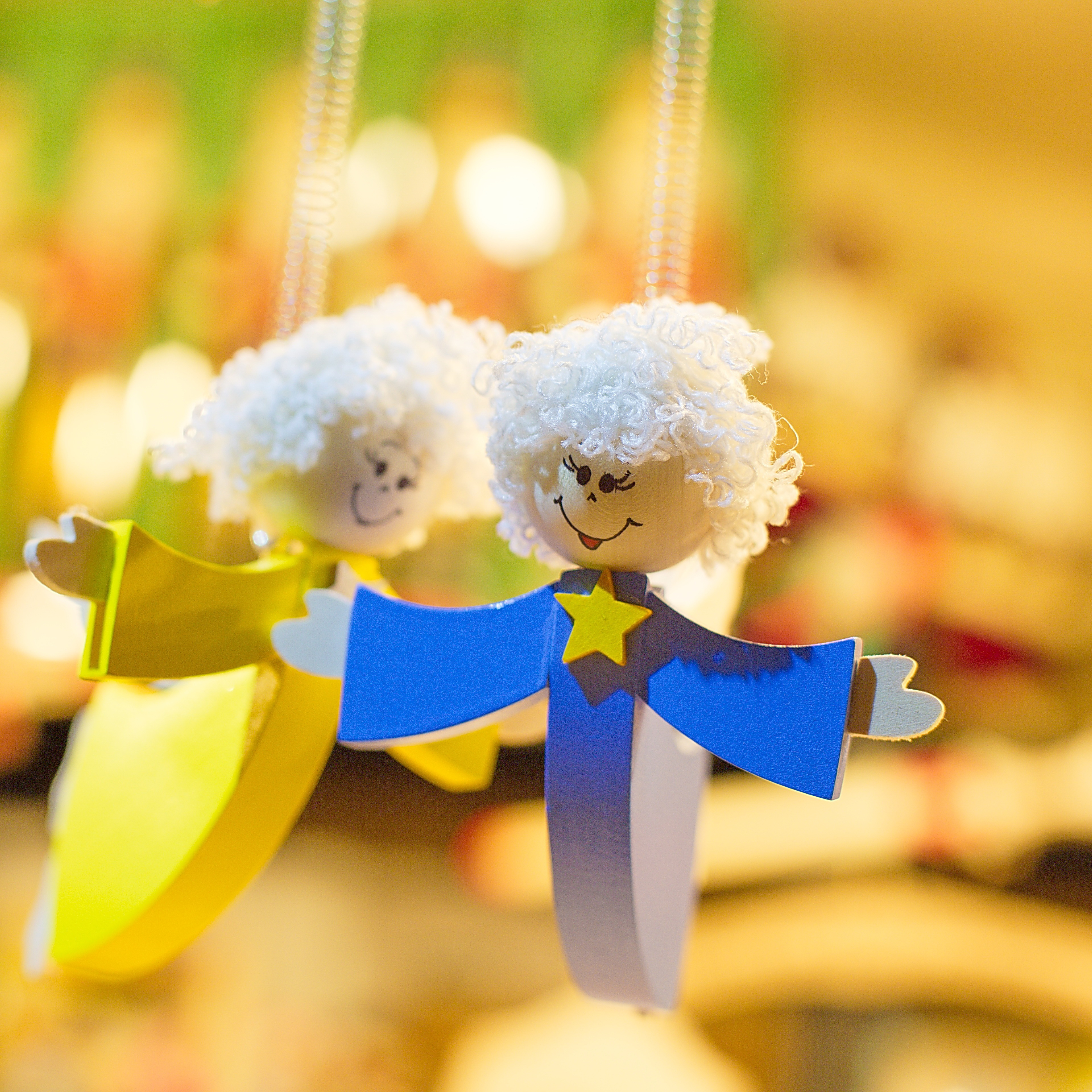 Wooden toys, hang, colorful, christmas